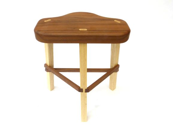 Walnut Ash very small stool